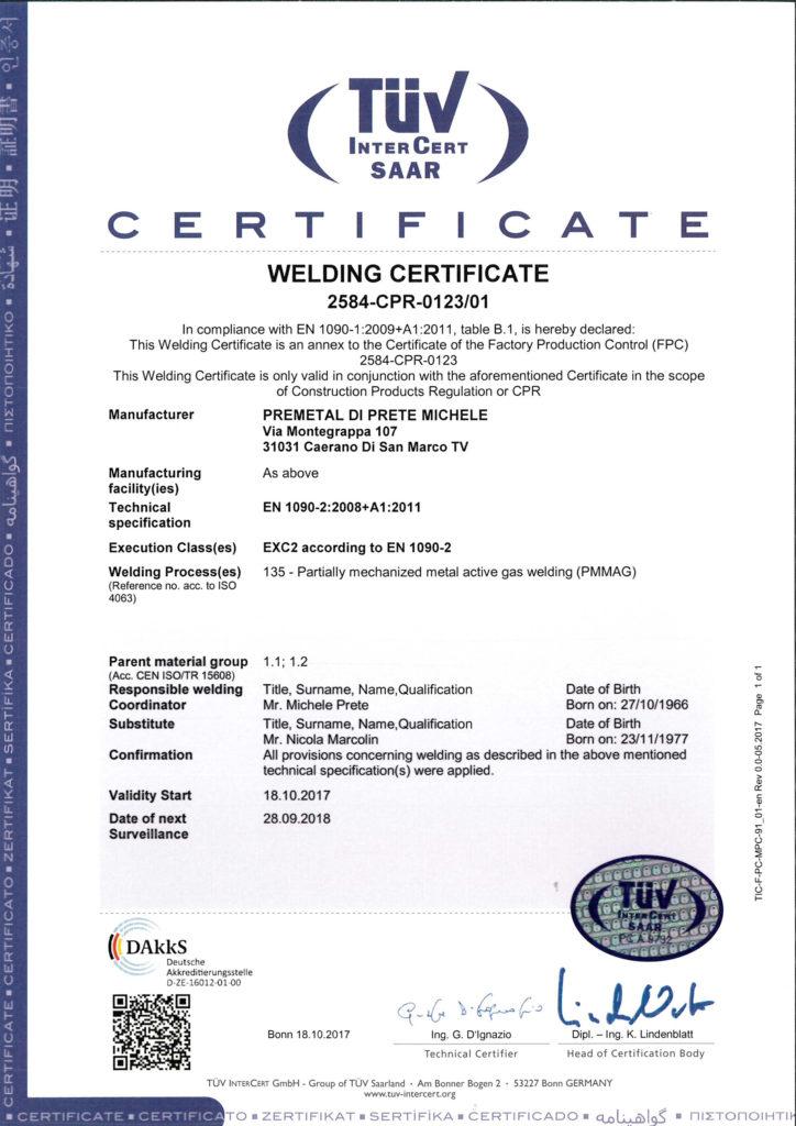 Certificazione Tur InterCert SAAR