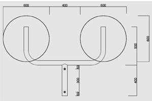 supporto a y in tubo per supporto doppi specchi