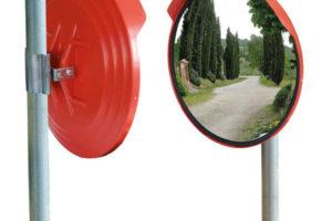 Palo completo di specchio stradale